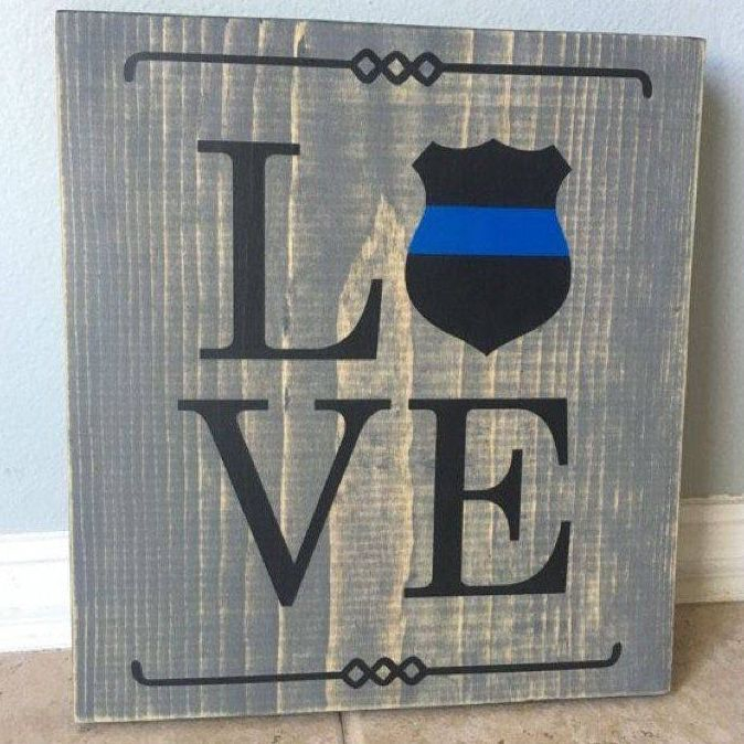 Law Enforcement, Thin Blue Line, Love Sign
