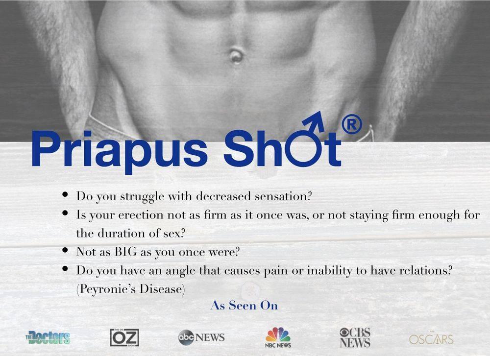 Priapus Shot ED Erectile Dysfunction The Doctors Dr. OZ ABC NEWS NBC News CBS NEWS Oscars