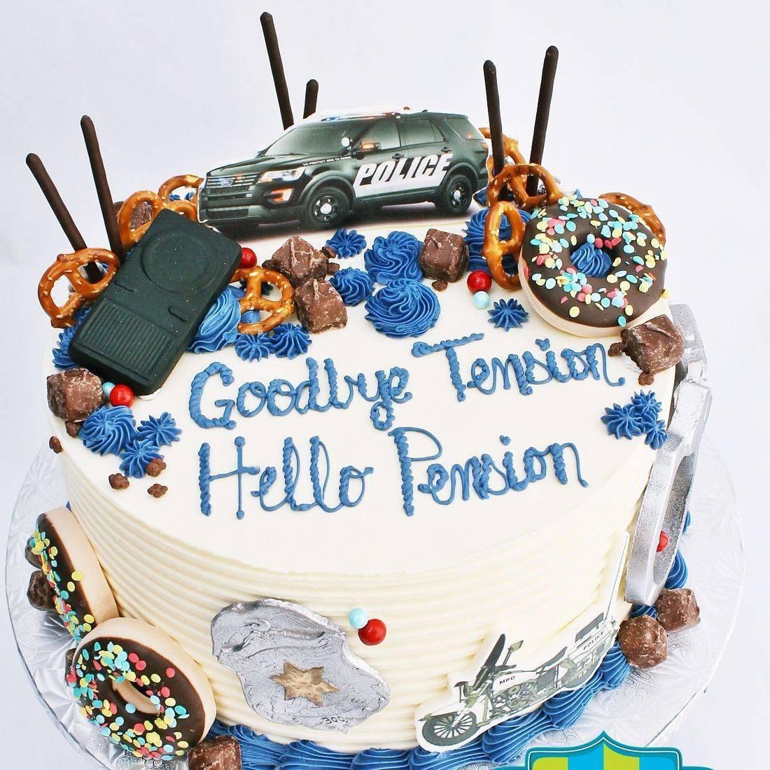Police retirement stylized cakes milwaukeeRetirement Fishing Cake