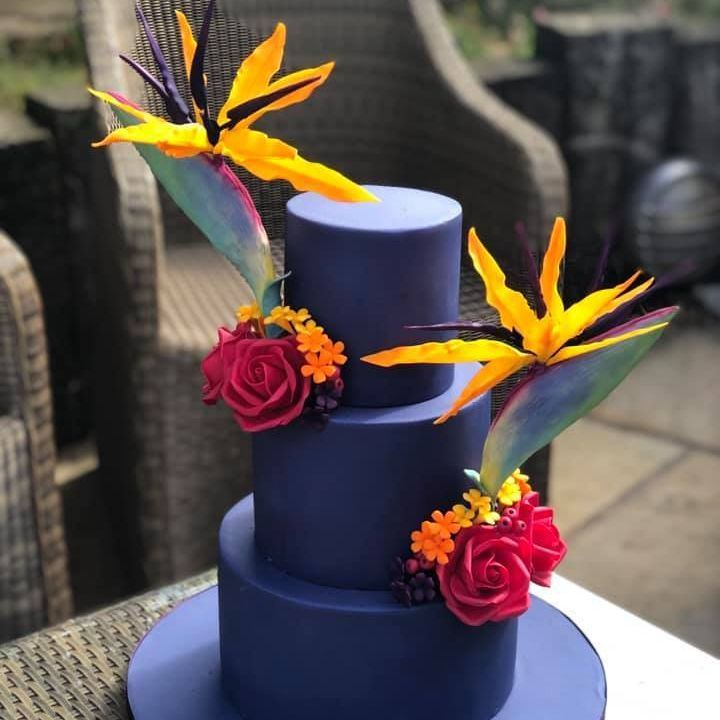 Wedding Cake Navy Blue