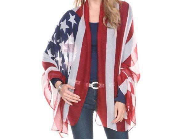 American Flag Chiffon Vest
