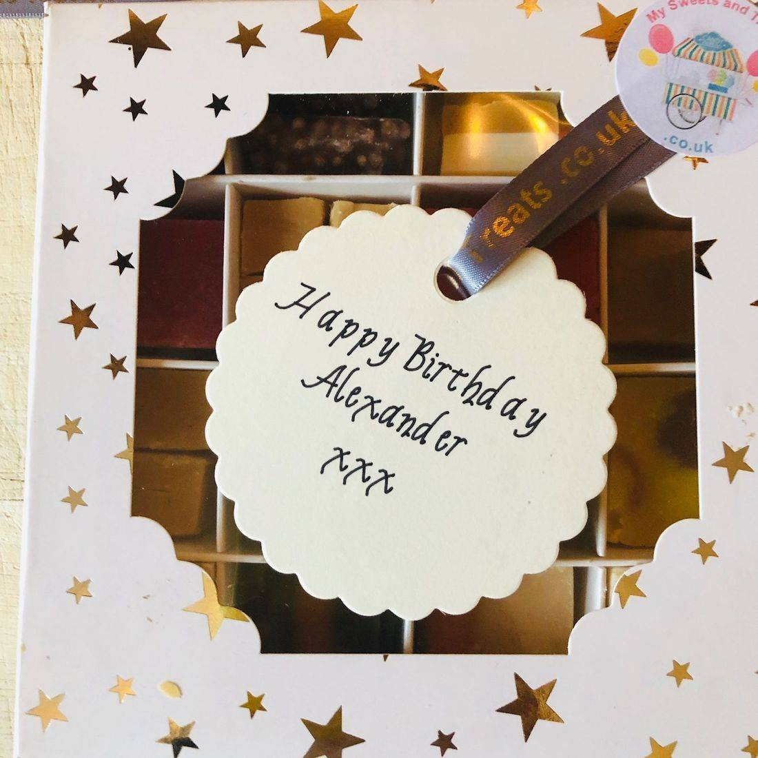 Birthday Fudge gift box