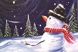 Snowman in the Moonlight