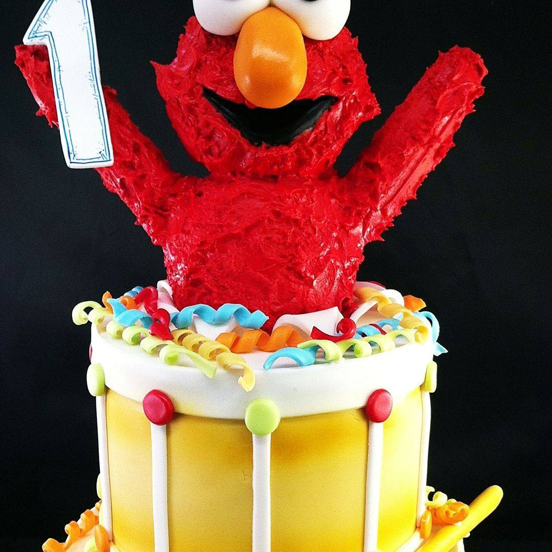 Custom Elmo Drum Cake Milwaukee