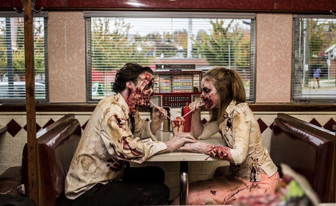 Zombie love walking dead date get dead crew