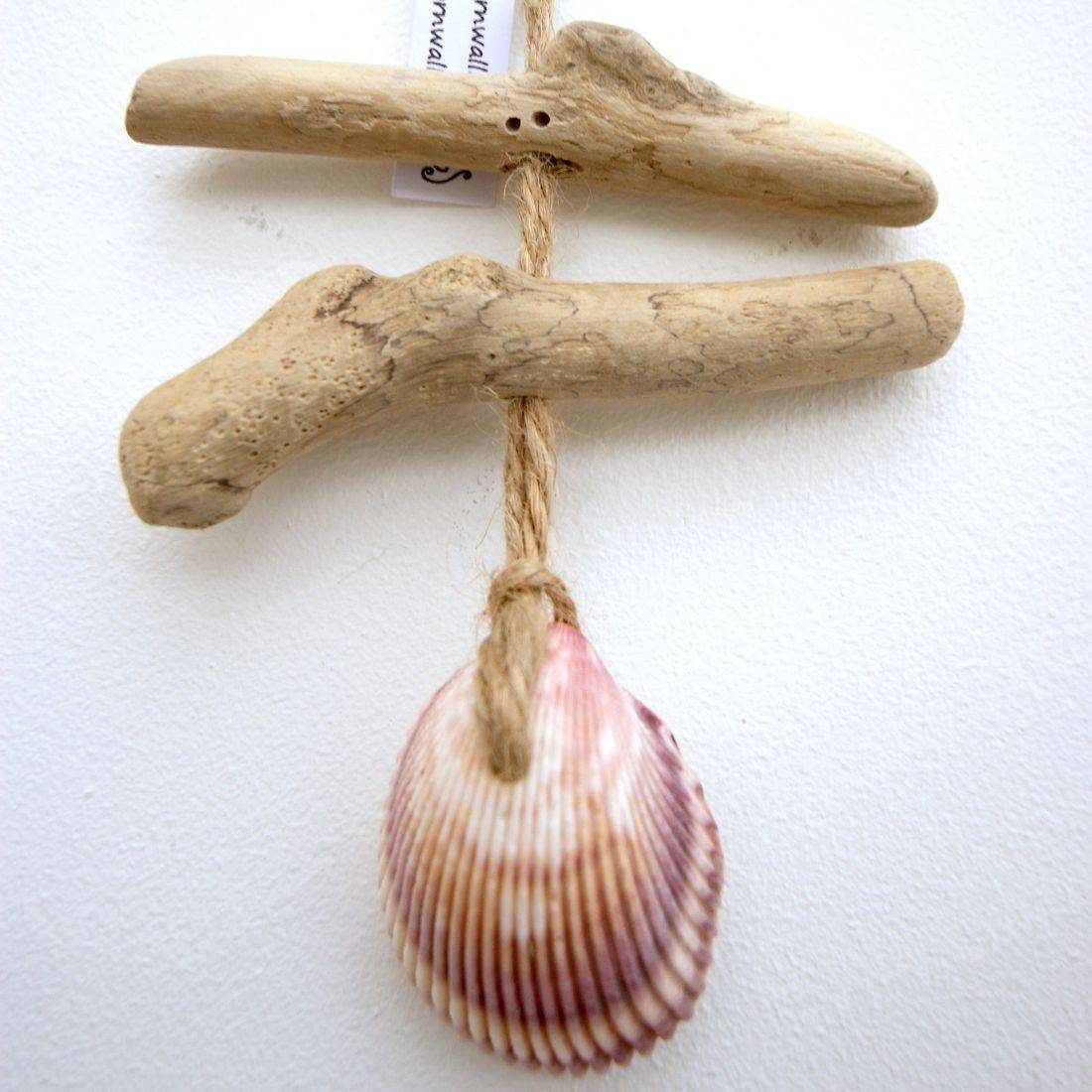 Driftwood and shell mobile 27