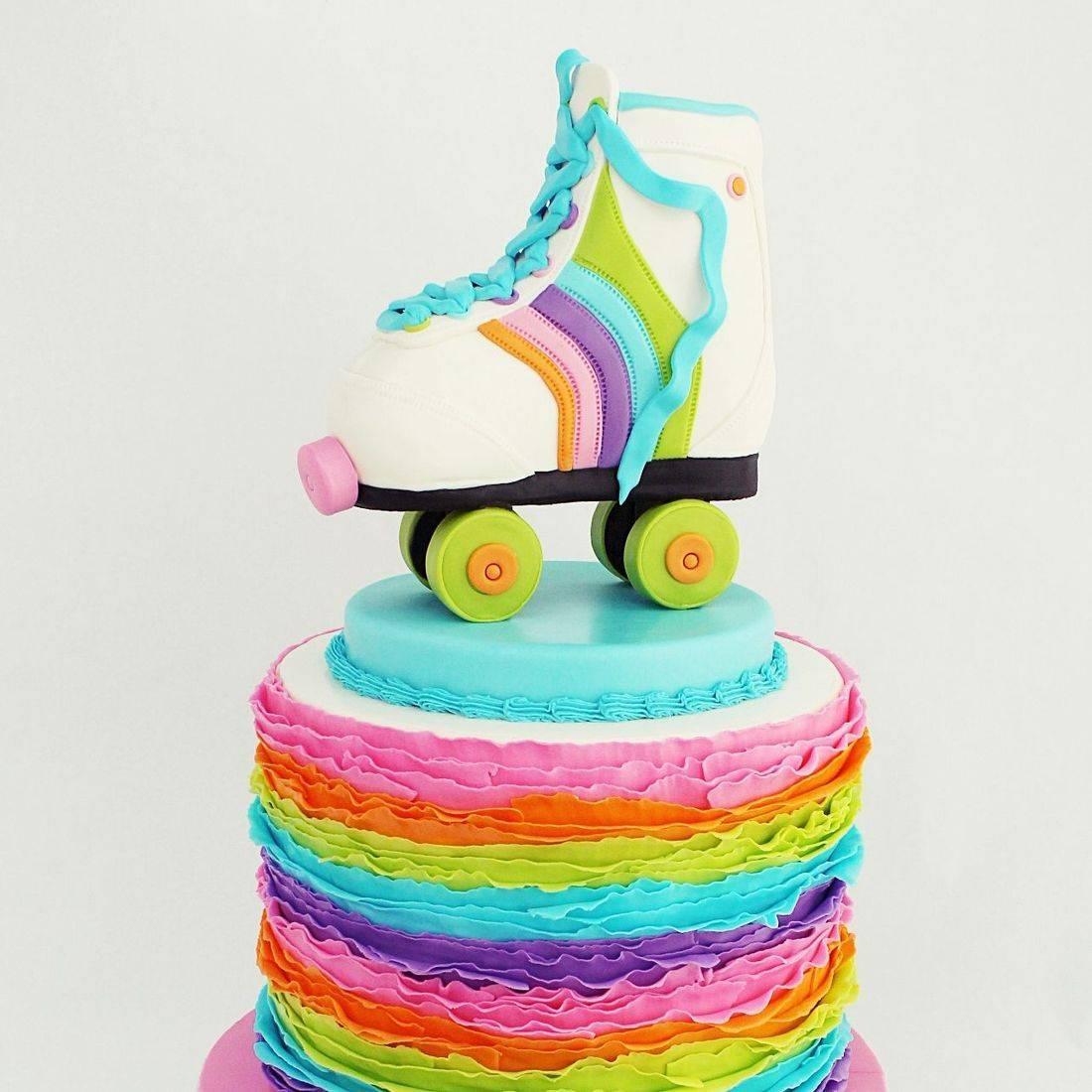 Roller Skate Ruffles Cake Milwaukee