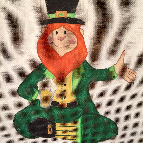 paddy, irish, leprechuan, st patrick, sitting with a beer