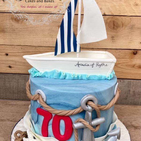Sailing Nautical Birthday Cake Anchor Starfish