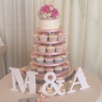 Cupcake Tower Wedding cake Fabu-Lous Cakes