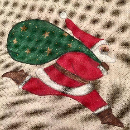 running santa, christmas,