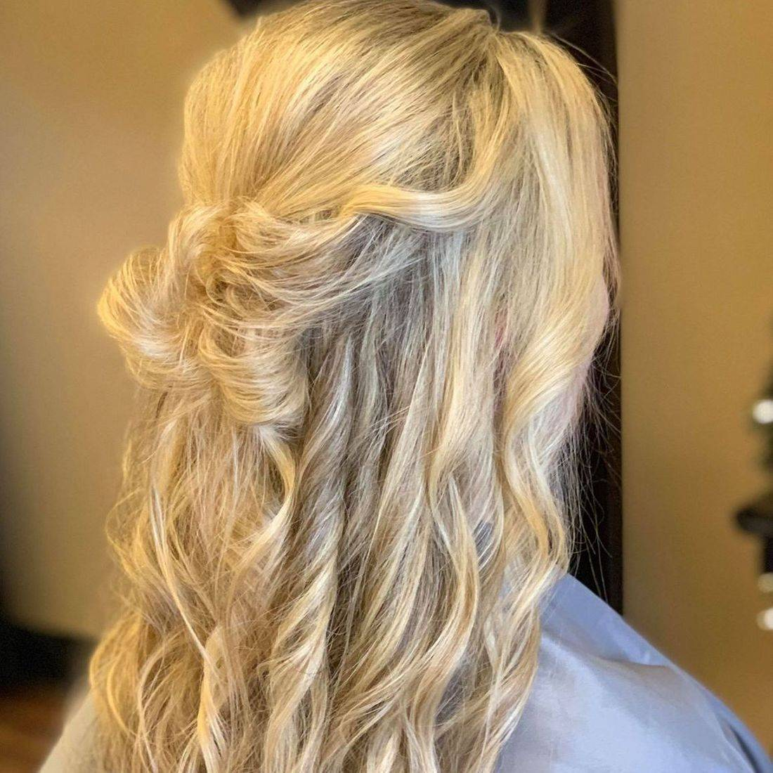 Updo Half-up wedding style
