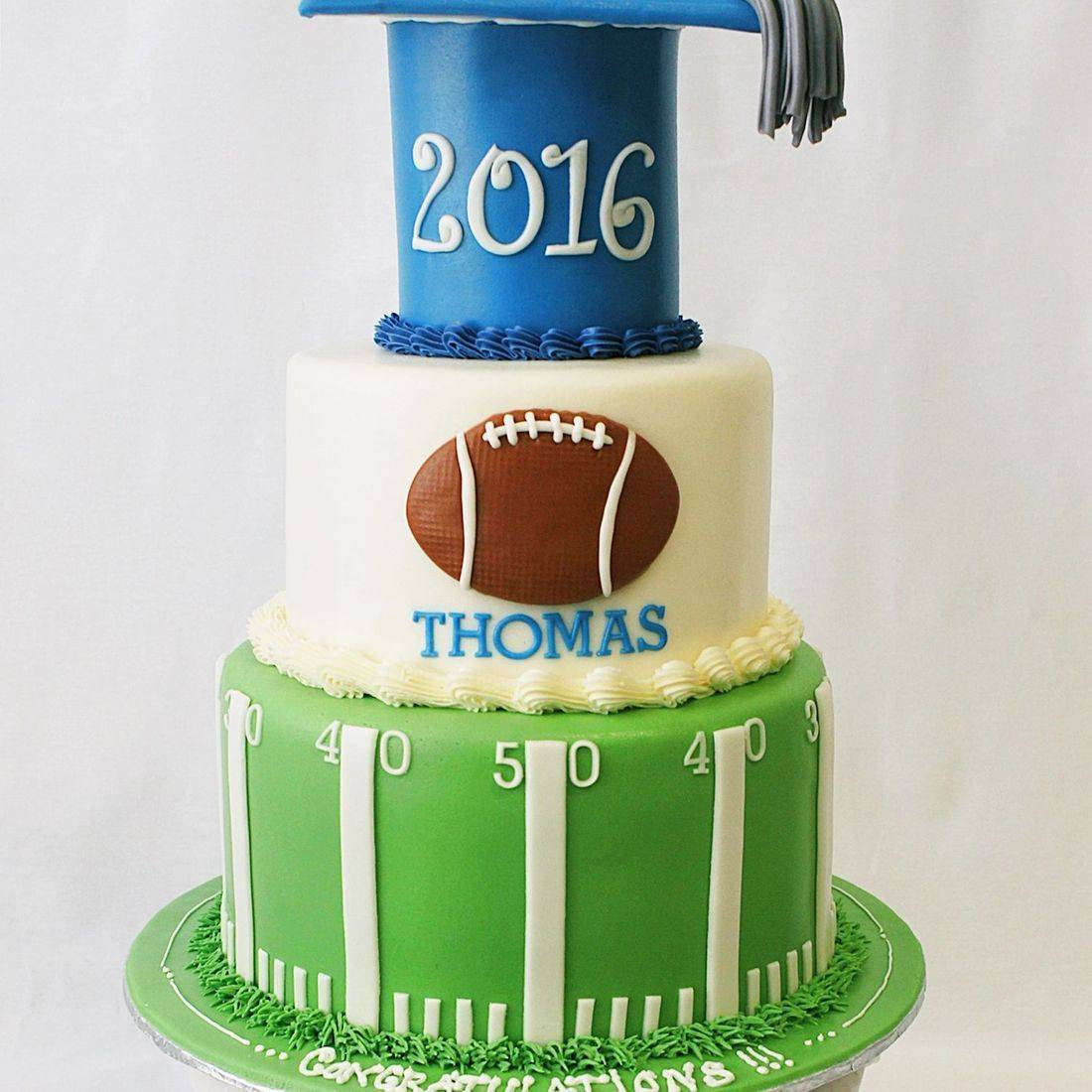 Custom Football Graduation cake Milwaukee
