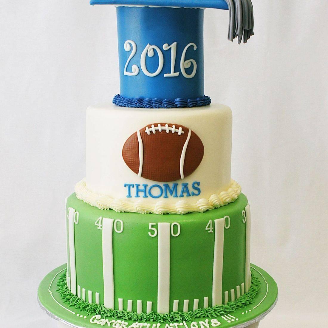 Custom Football Graduation cake Milwaukee