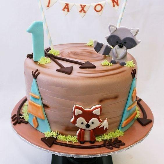 Custom Woodland Animals Arrows  Teepee Cake Milwaukee