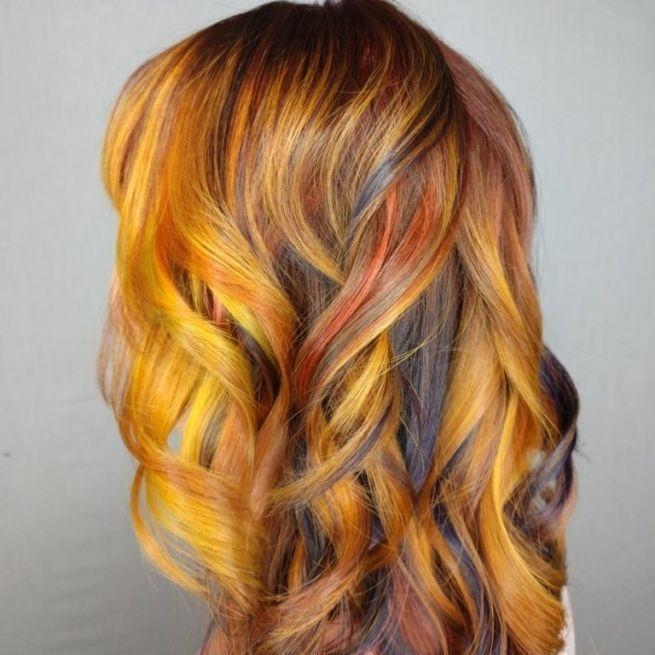 copper vibrant redheads peekaboo color fall hair inspo