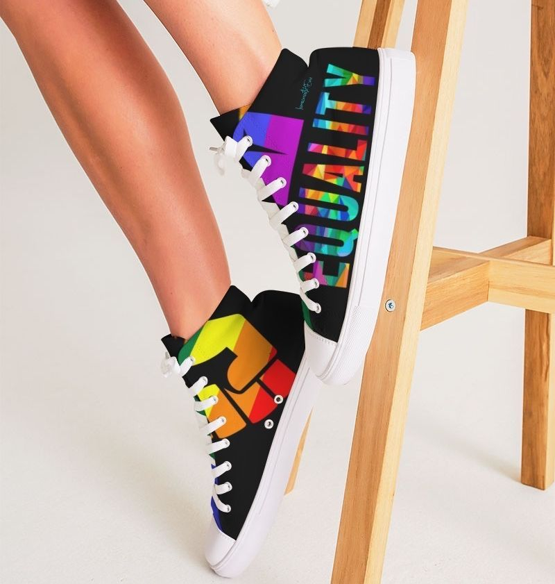 LGBTQ LOVE Women's Hightop Canvas Shoe