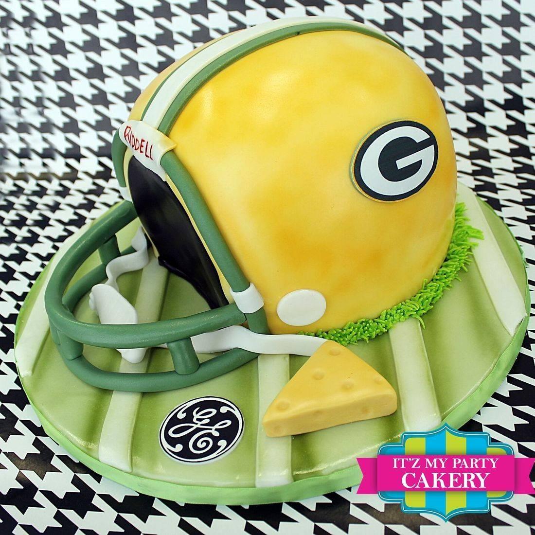 Packer Helmet Cake Dimensional Cake Milwaukee