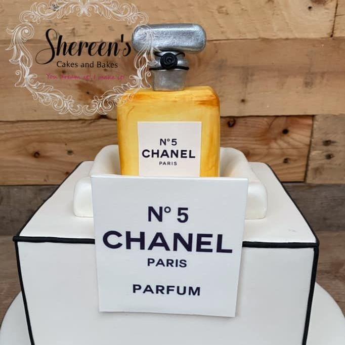 Birthday Cake 50th chanel no 5 perfume parfum paris bottle box