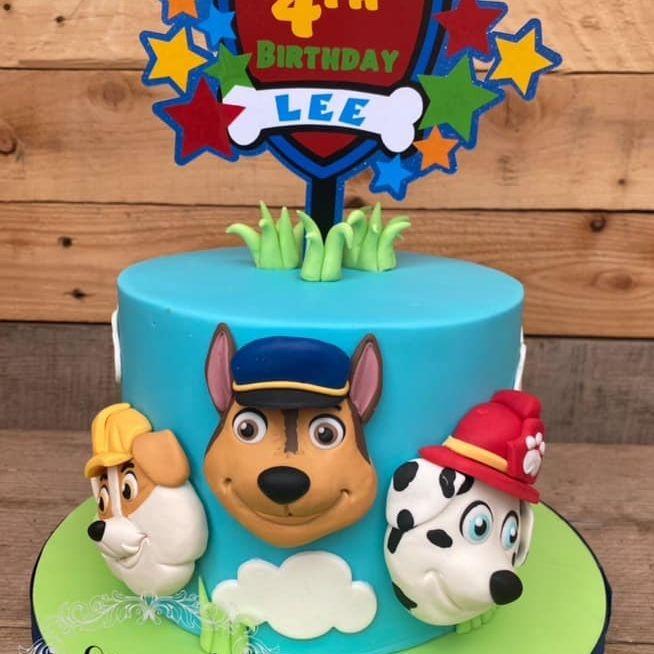 Paw Patrol Birthday Cake Rubble Chase Marshall