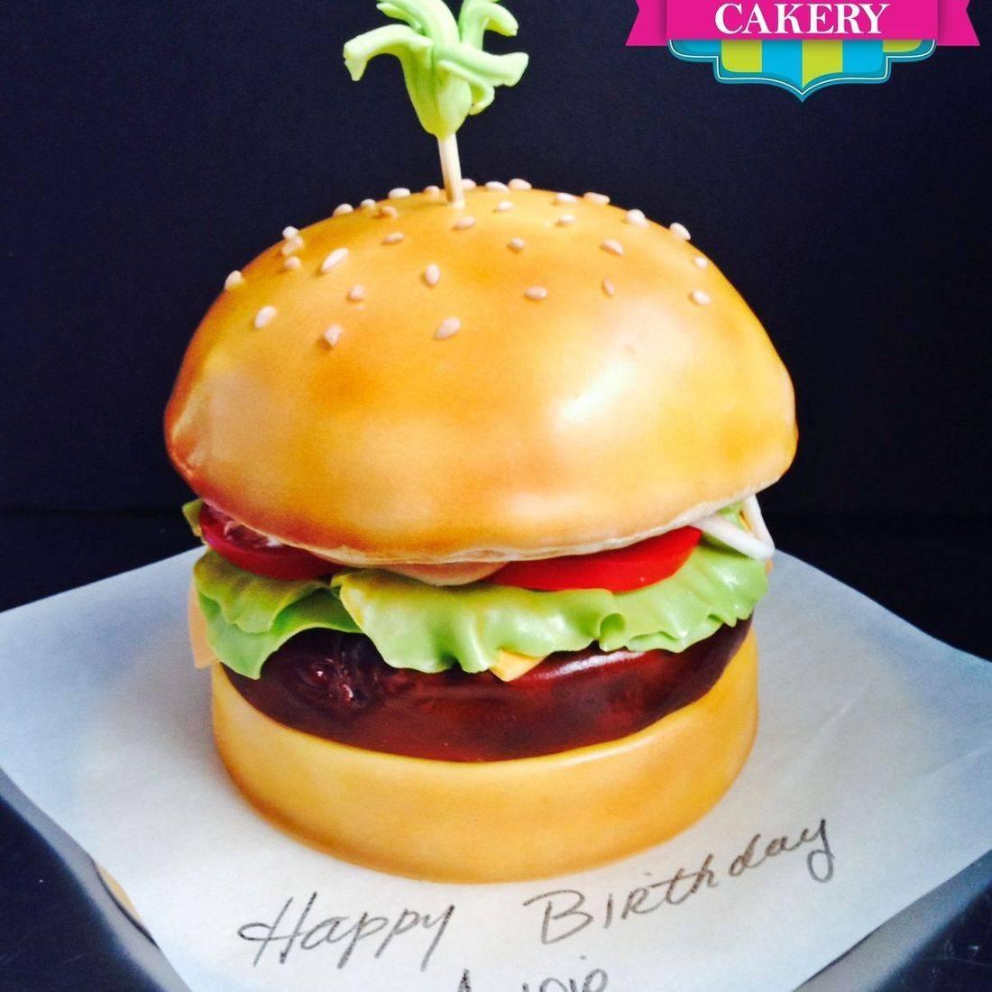 Cheeseburger Cake Carved Dimensional Cake Milwaukee