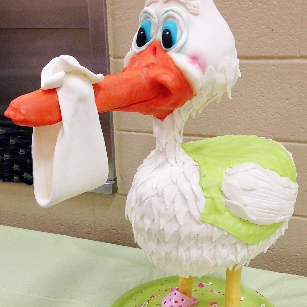Stork Carved Dimensional Cake Milwaukee