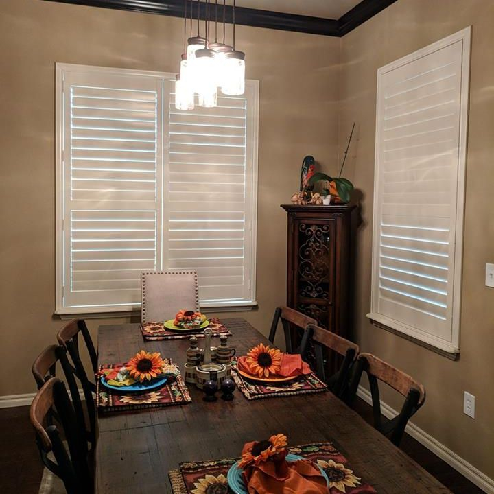 white wood shutters in oklahoma