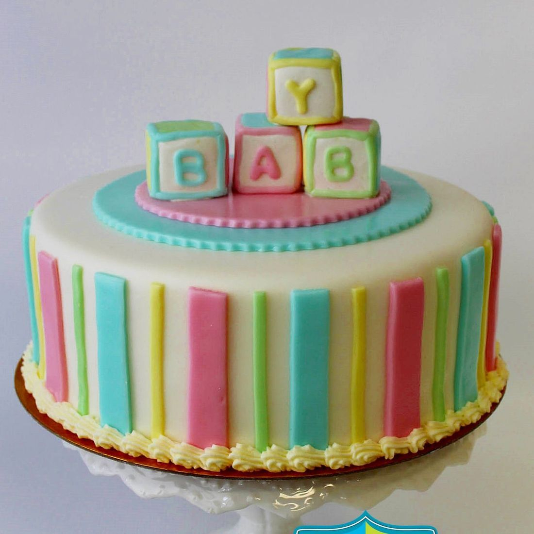 Custom  Baby Block Cakes Milwaukee
