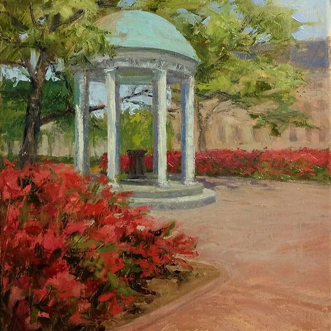 KCrenshaw - Old Well in Spring 14x11 oil on linen