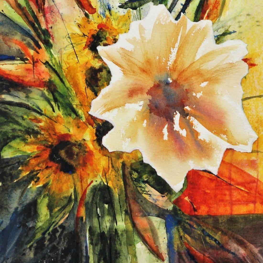 RPutbrese Watercolor, Rebecca Krutsinger, Becky Krutsinger watercolor painting