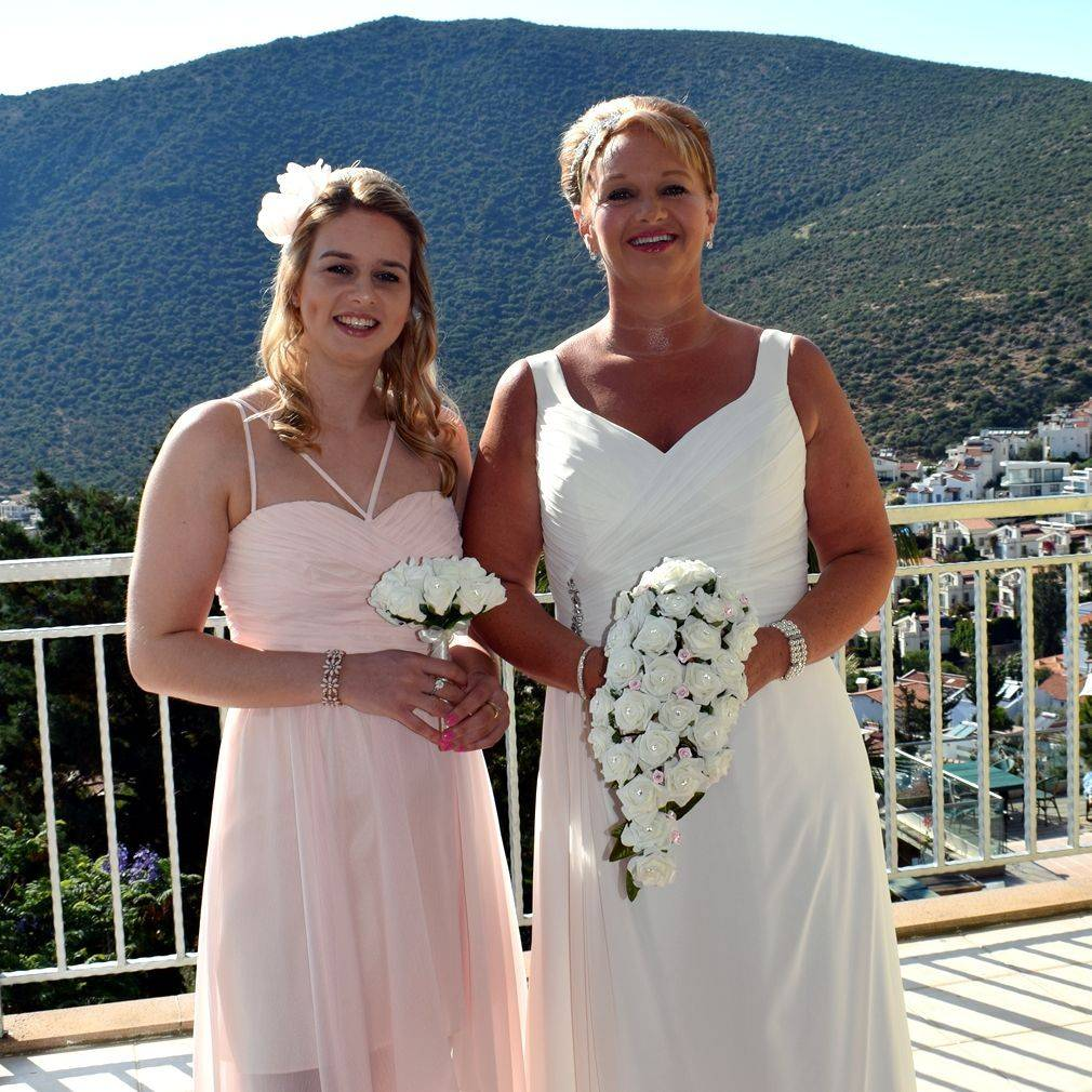 wedding abroad, beach wedding, older bride