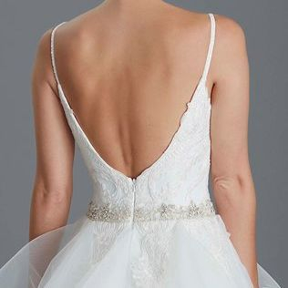 Low back, straps, ballgown,elegantwedding dress