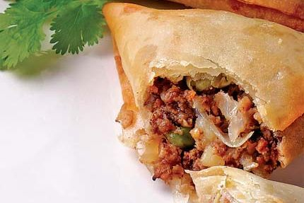 This is Arista's Lamb or Chicken Samosa