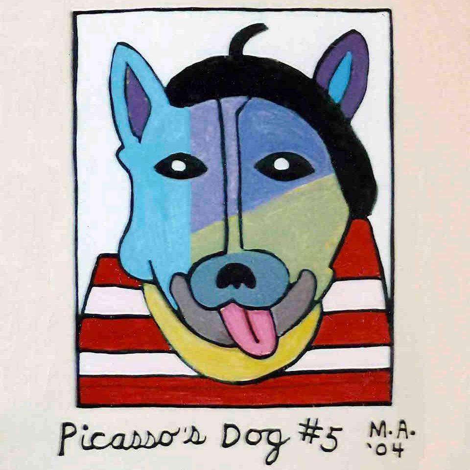 Picasso, Picasso's Dogs, Artists, Artists' Dogs, Beret, Picasso's Style of Dress, Anthropomorphism