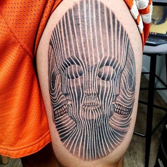 Black and Grey tattoo in Ann Arbor tattoo shop
