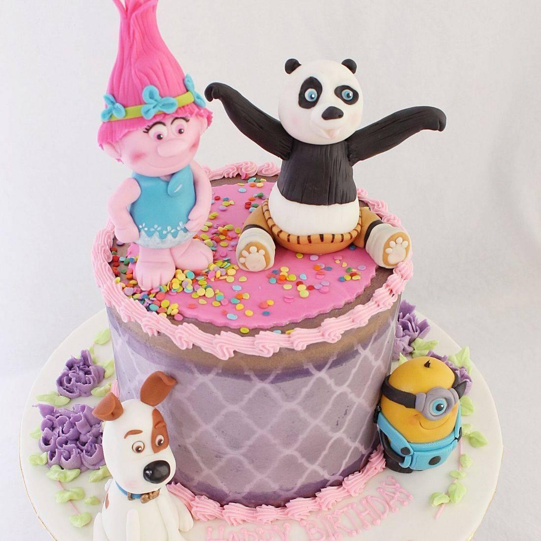 Mixed Character stylized cakes milwaukeeRetirement Fishing Cake