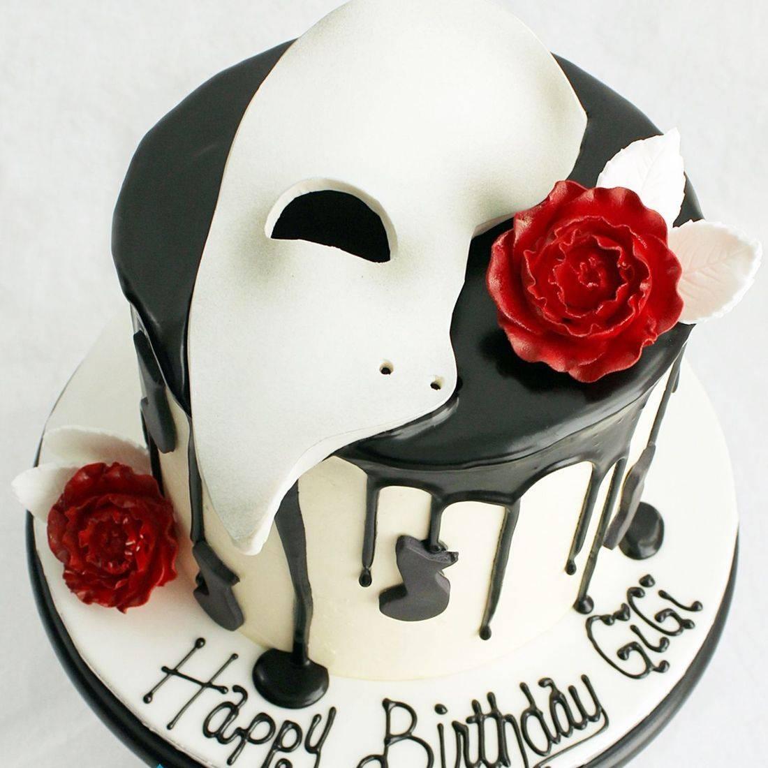 Phantom Of the Opera stylized cakes milwaukeeRetirement Fishing Cake