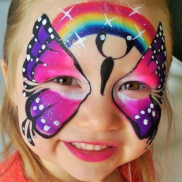 Bithday party fun for this little girl in Portland with face painting