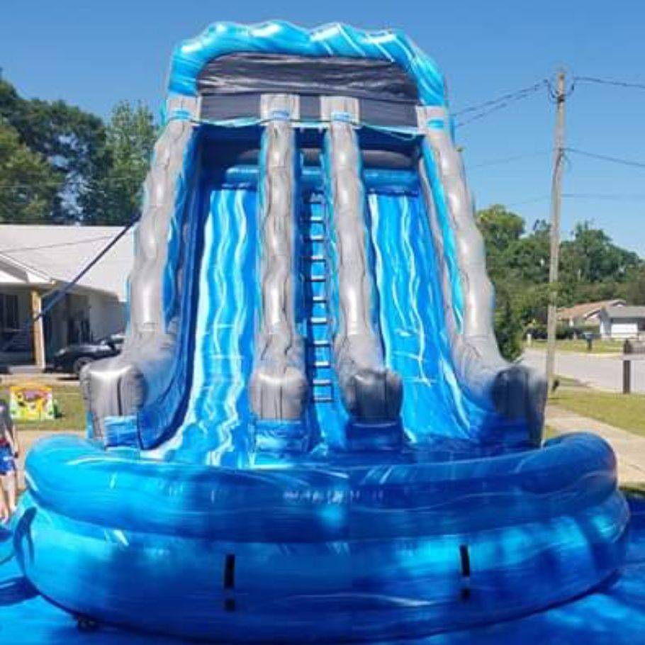 19ft dual lane racer waterslide