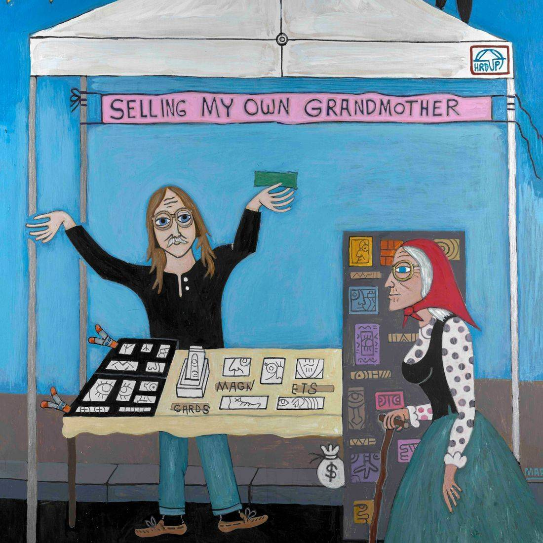 Michael Andryc,  Self Portrait, Artist, Art Festival, Art Booth, Grandmother, Michael Andryc Self-Portrait, Grandmother, Business