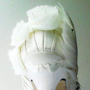 ivory dove birds wedding custom personalised shoes bridal nicky rox