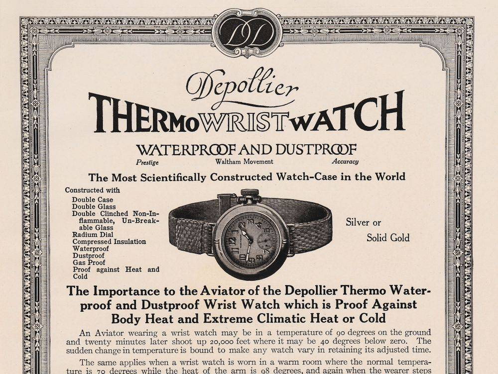 WWI Trench Watch Advertising, LRF Antique Watches