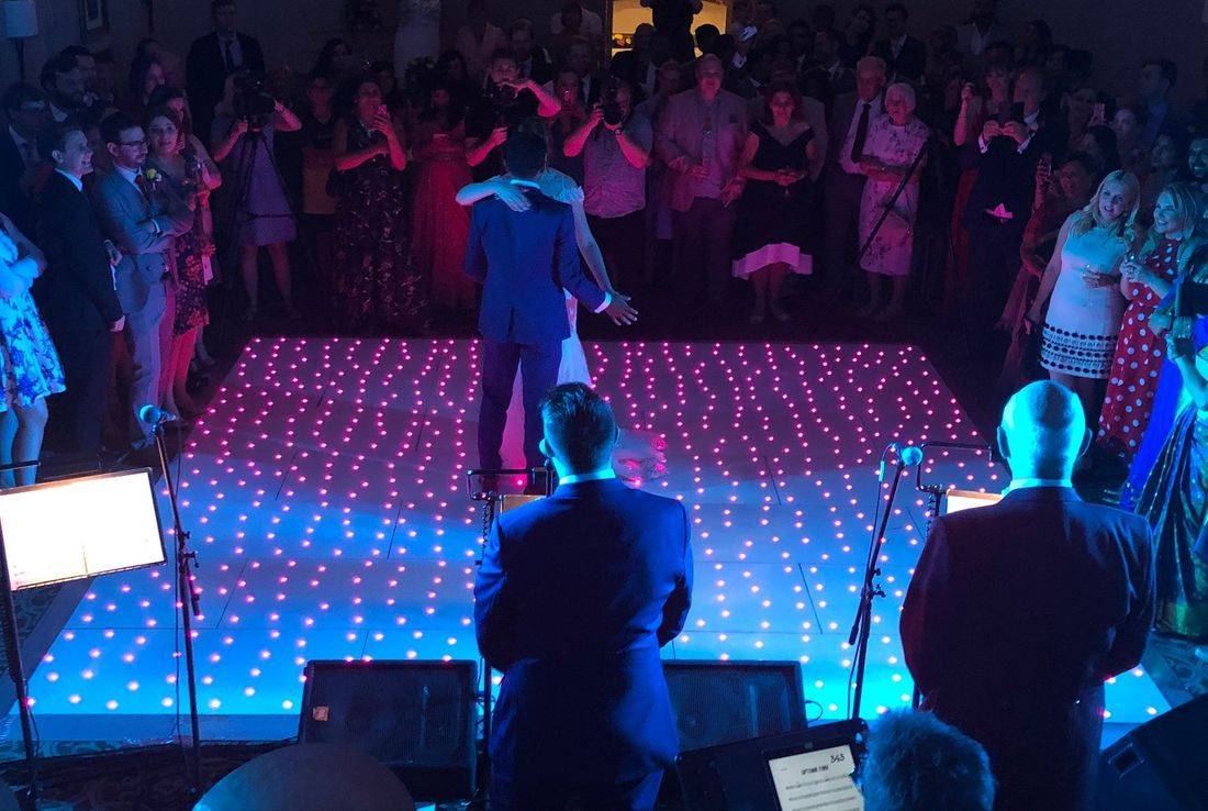 Stanbrook Abbey Led dancefloor WeddingdjWorcestershire Wedding DJ