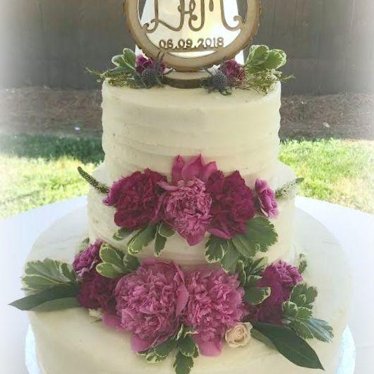 Buttercream Wedding Cake Rustic Country Cake