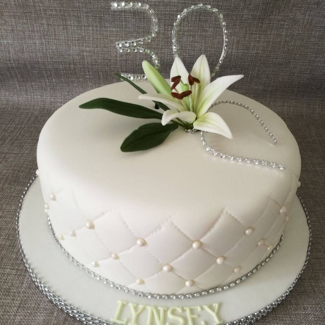 A Rosey 70th Birthday Cake
