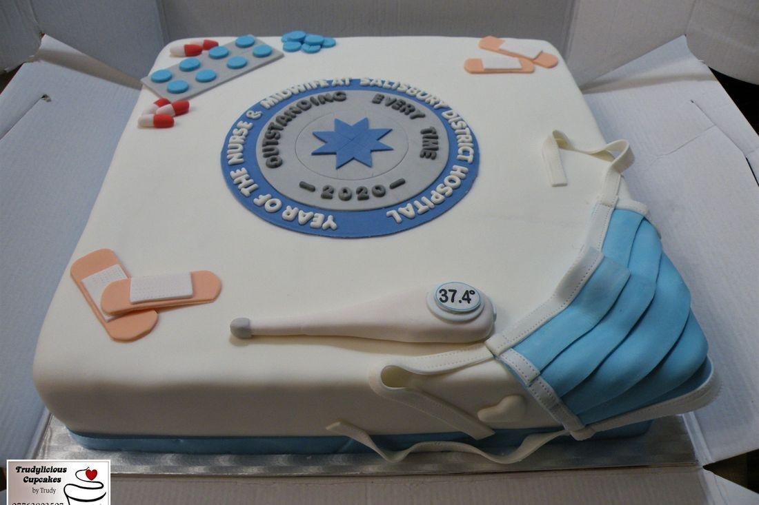 """NHS Salisbury Hospital theme (14"""" LARGE cake)"""