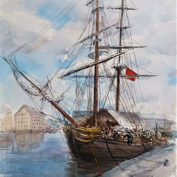'The Phoenix Tall Ship'- Gloucester Docks  UK