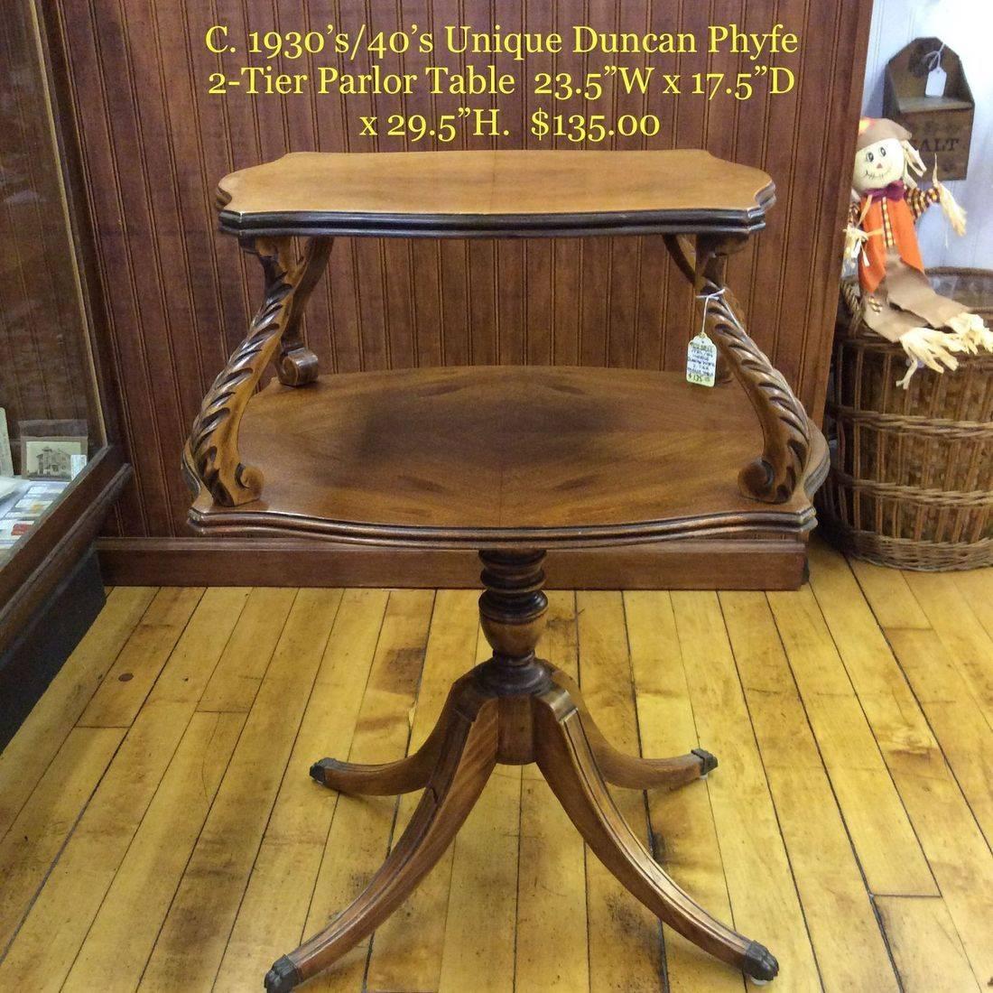 C. 1930's/40's Unique Duncan Phyfe 2-tier Parlor Table  $135.00