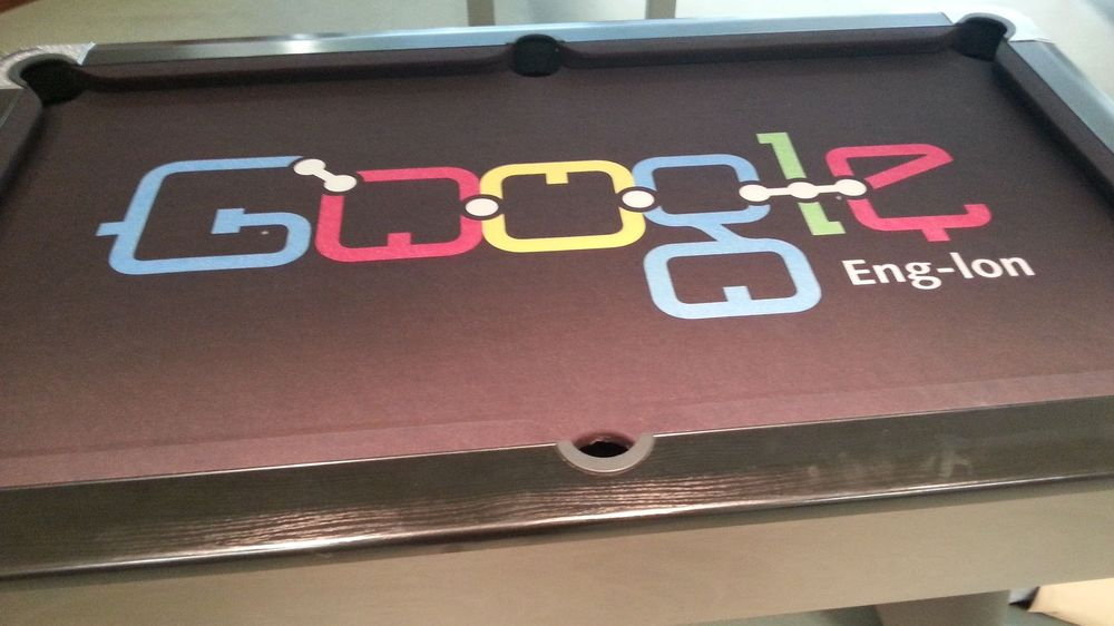 A Custom Pool Table Cloth for Google