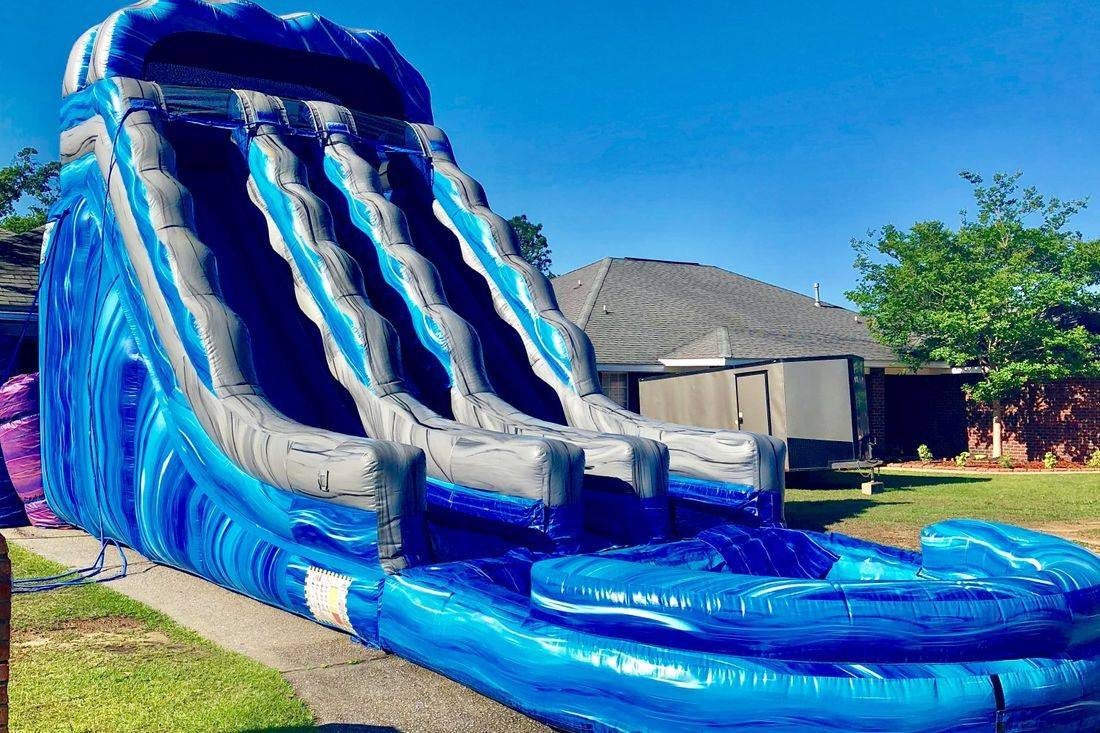 19ft 2lane racer waterslide inflatable party rental